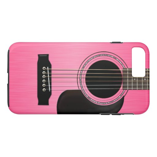 Pink Acoustic Guitar iPhone 7 Plus Case