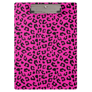 Pink and Black Leopard Print Clipboards