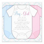 Pink and Blue Gender Reveal Baby Shower Invitation