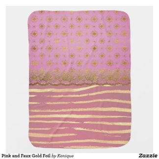 Pink and Gold Baby Blanket