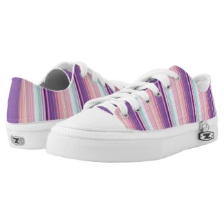 Pink and Purple Candy Striped Shoes Printed Shoes