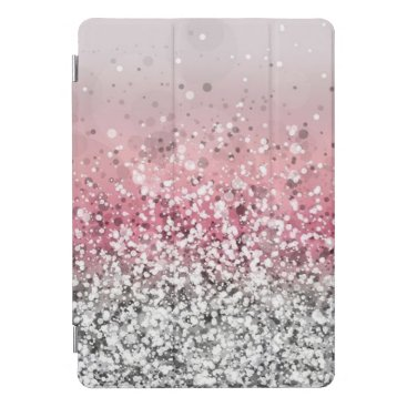 Pink and Silver Glitter iPad Pro Cover