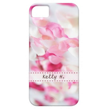 Pink and White Rose Petals iPhone SE/5/5s Case