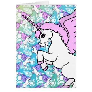 Pink and White Unicorn Graphic