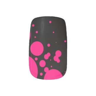 Pink/Black Abstract Minx Nail Wraps