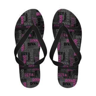 Pink/Black DIVA women's Sandals