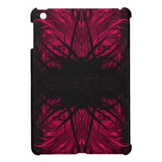 Pink/BLK Squiggly Abstract Pattern Ipad Mini Case