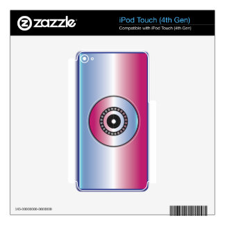 Pink & Blue Abstract iPod Touch 4G Skins