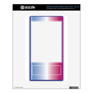 Pink & Blue Abstract Skin For NOOK