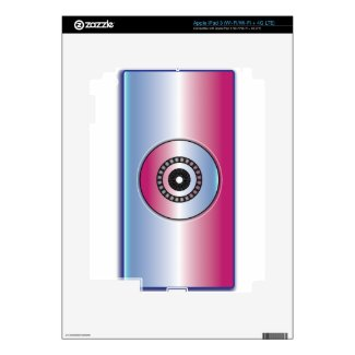 Pink & Blue Abstract Skins For iPad 3
