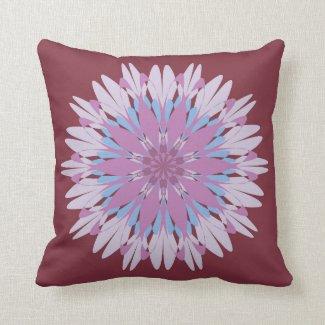 Pink blue mandala design pillows