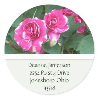 PInk Floral Address Stickers sticker
