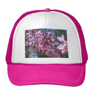 Pink Floral Branch Trucker Hats