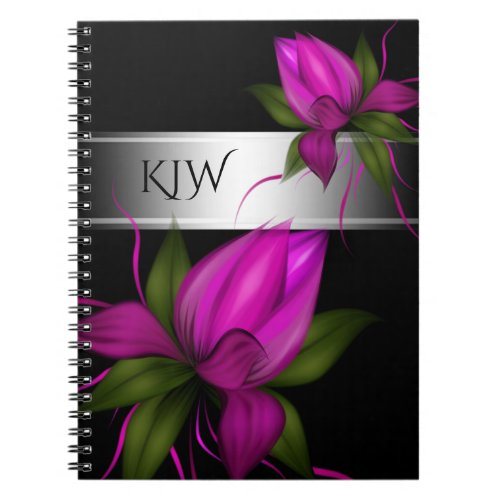 Pink Floral Monogram Notebook