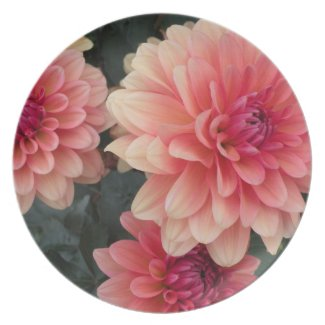 Pink Flowers Plate fuji_plate