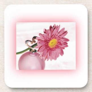Pink Gerbera Daisy Beverage Coasters