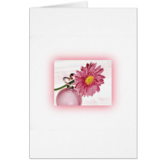 Pink Gerbera Daisy Greeting Card