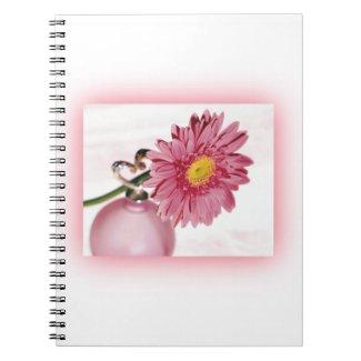 Pink Gerbera Daisy Spiral Note Books