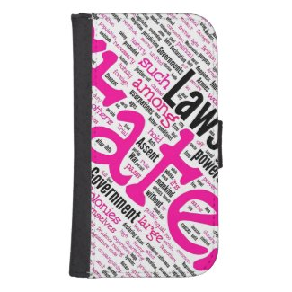 Pink Girly Constitution Galaxy4 Wallet Case