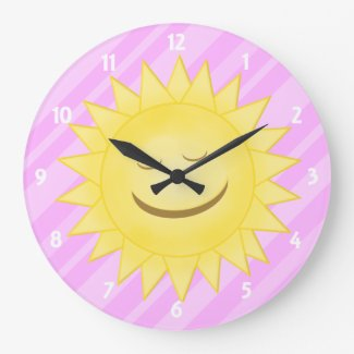 Pink: Happy Sunshine Clock