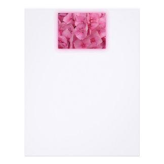 Pink Hydrangea Custom Letterhead