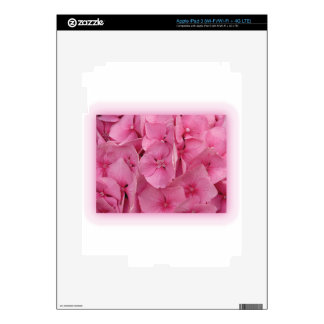 Pink Hydrangea Decals For iPad 3