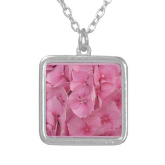Pink Hydrangea Necklace