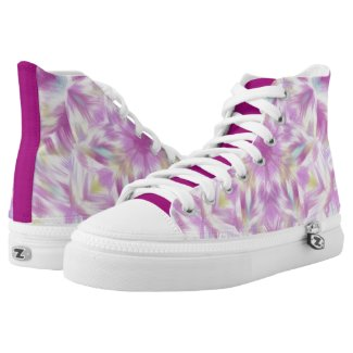 Pink kaleidoscope Flower Printed Shoes