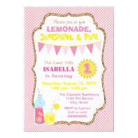 Pink Lemonade Birthday Party Card