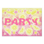 Pink Lemonade birthday party invitation rectangle
