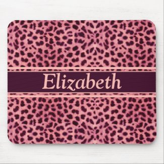 Pink Leopard Skin Pattern Mouse Pad