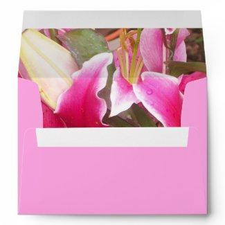 Pink Lilies Envelope envelope