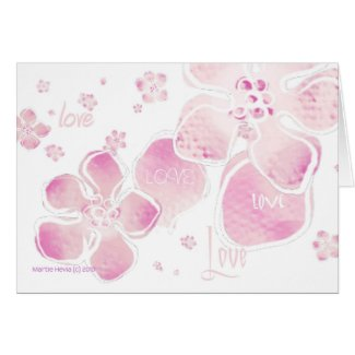 Pink Love Blossoms Card card
