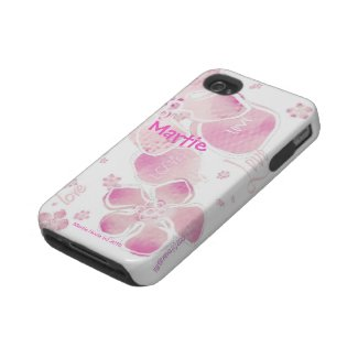 Pink Love Blossoms - iPhone 4/4S Tough Case