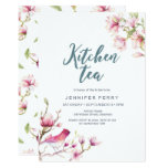 Pink Magnolia Floral Kitchen Tea Party Invitation