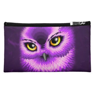 Pink Owl Eyes Wristlet