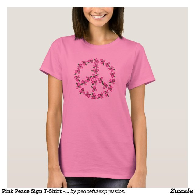 Pink Peace Sign T-Shirt - Other colors available