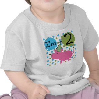 Pink Pig 2nd Birthday shirt