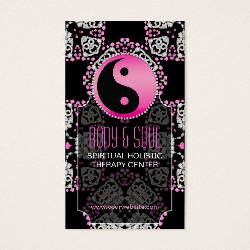 Pink Princess YinYang New Age Yoga Business Cards