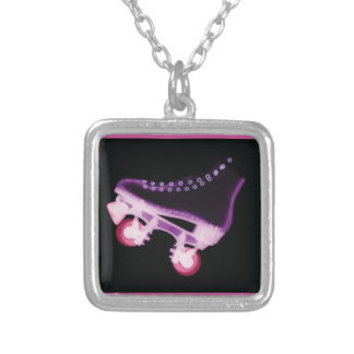 Pink Rollerskate Xray Personalized Necklace