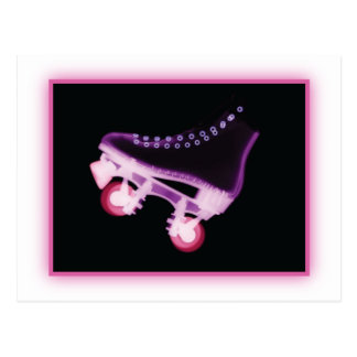 Pink Rollerskate Xray Post Card