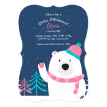 Pink Scarf Bear Invitation
