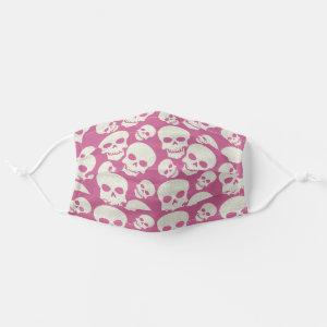 Pink Skull Design Cloth Face Mask