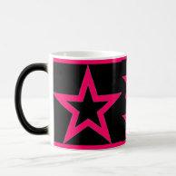 Pink Stars on Black - Mug on Zazzle