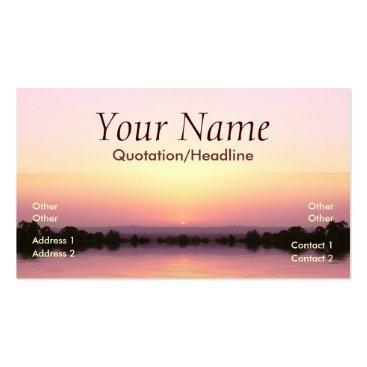Pink sunset Business Card