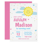 Pink Sunshine Birthday Invitation