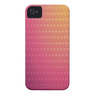 Pink To Orange Gradient Waves iPhone 4 Case-Mate Cases