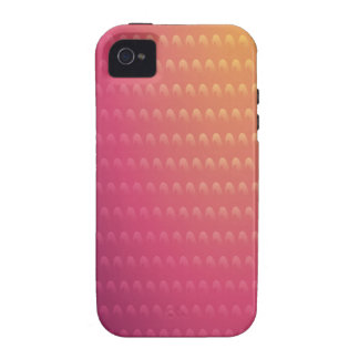 Pink To Orange Gradient Waves Case-Mate iPhone 4 Cover