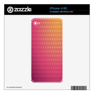 Pink To Orange Gradient Waves Decals For The iPhone 4