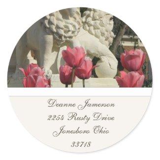 PInk Tulips Address Stickers sticker